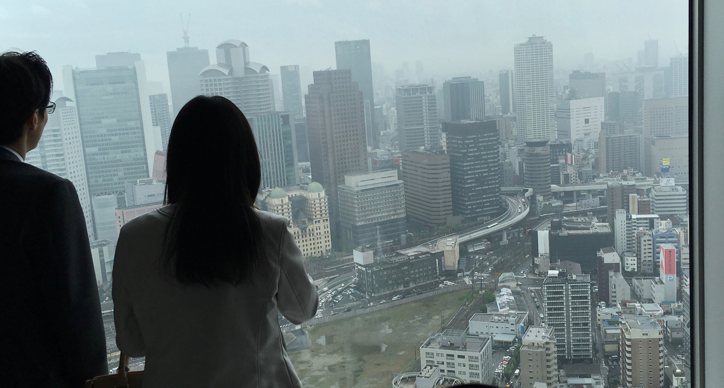 View from the observation deck. Osaka just keeps on going!