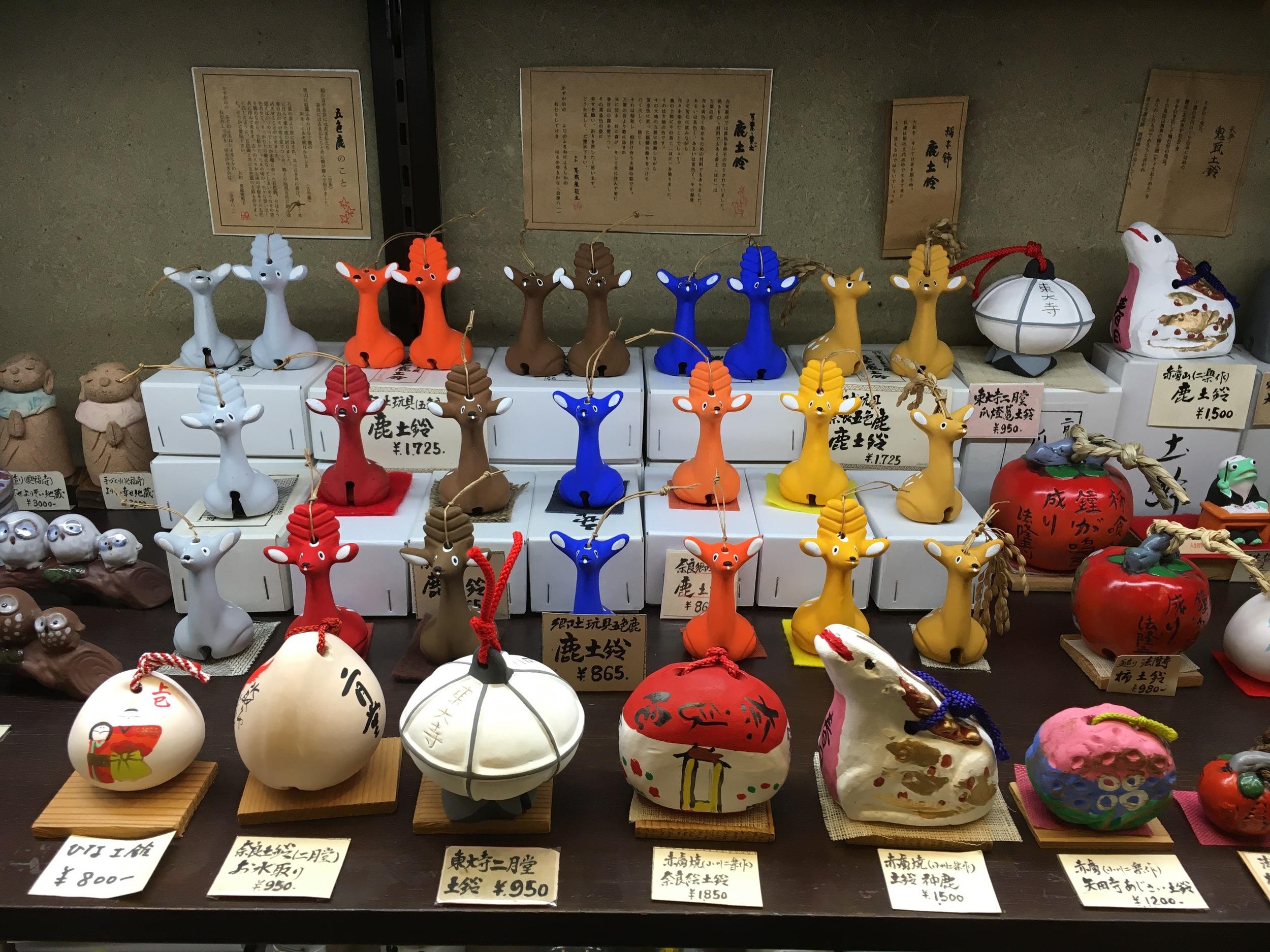 Handmade deer figurines.