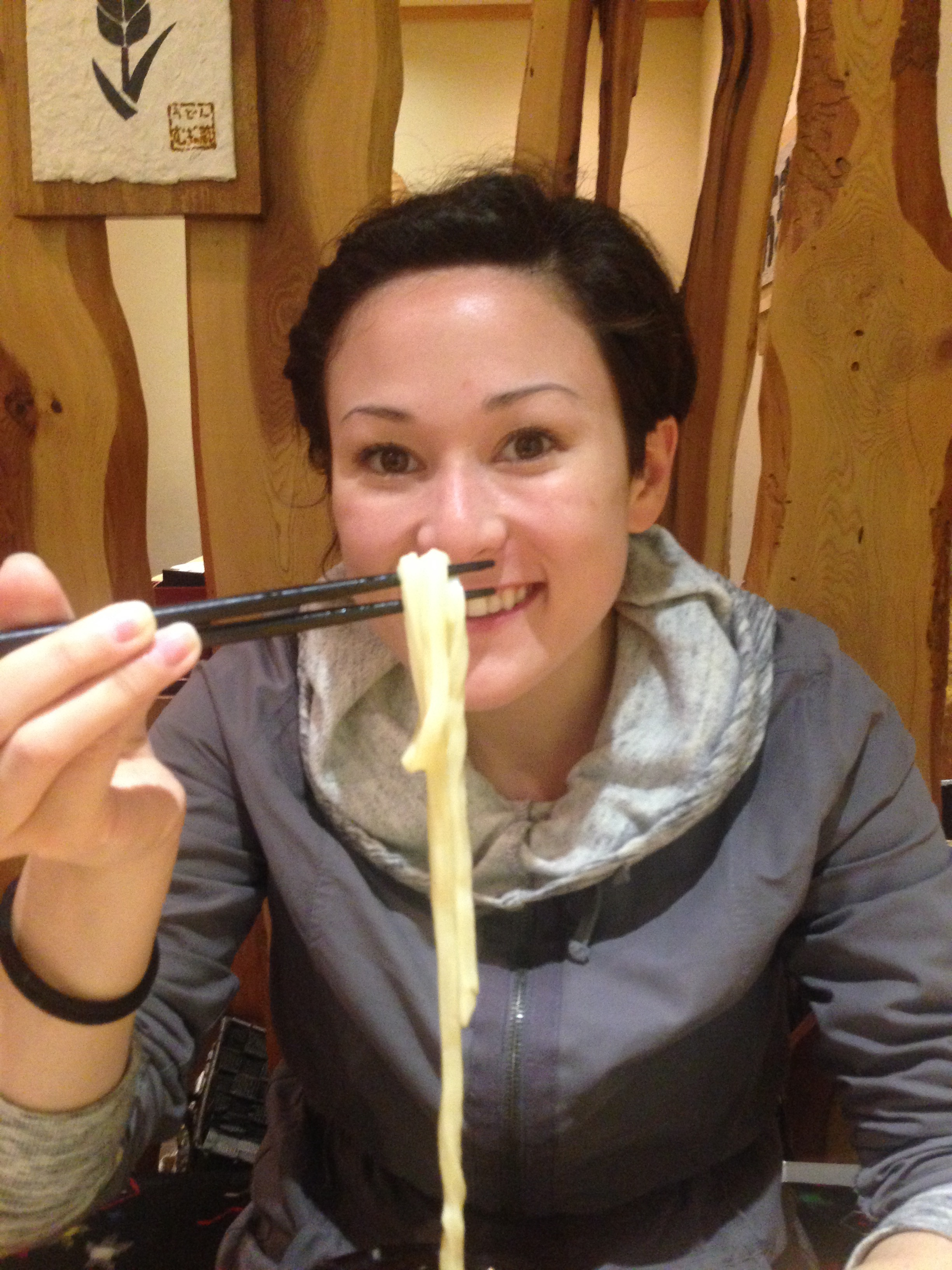 Me and my udon! Delicious!