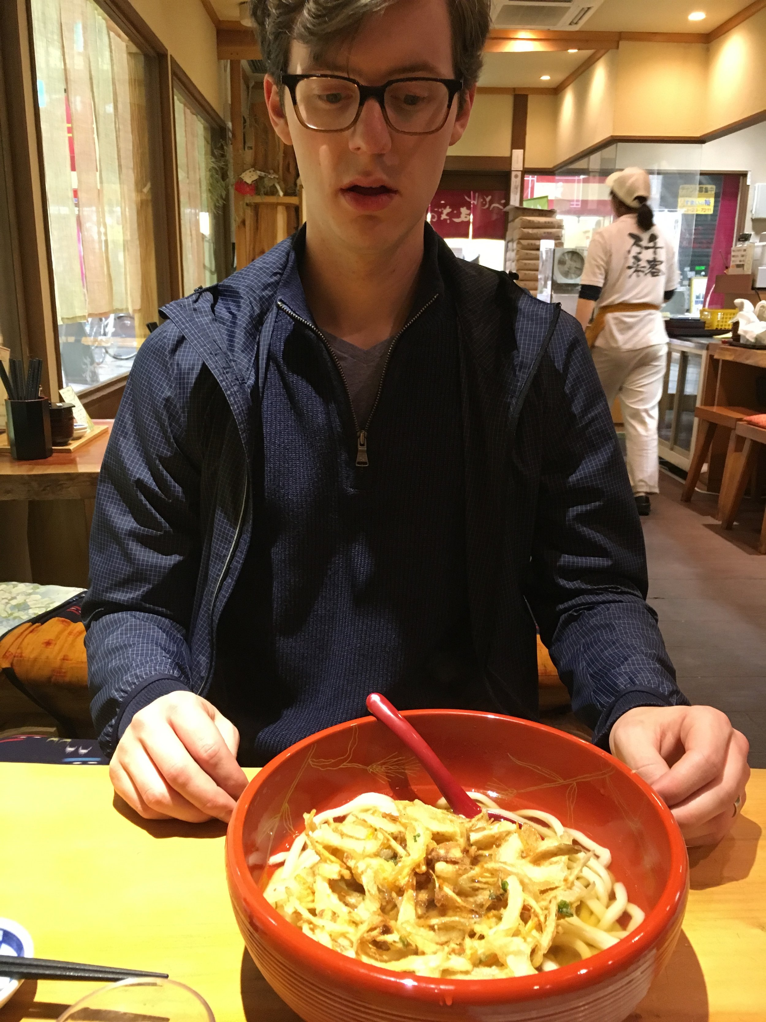 Michael's expression was priceless. SO much udon!