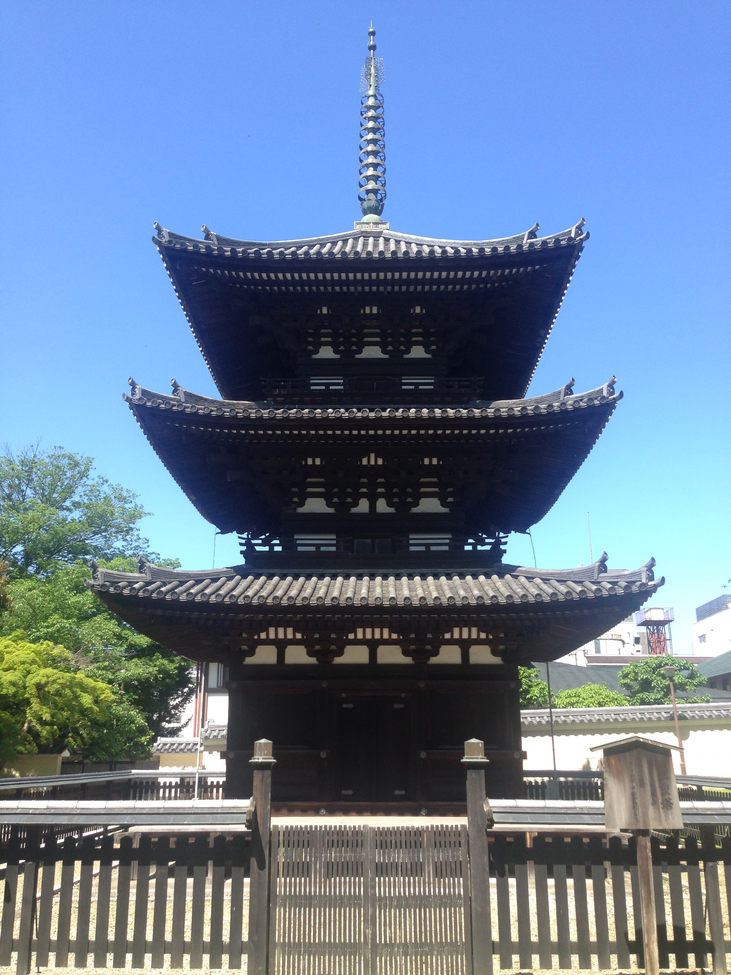 Beautiful three story pagoda.