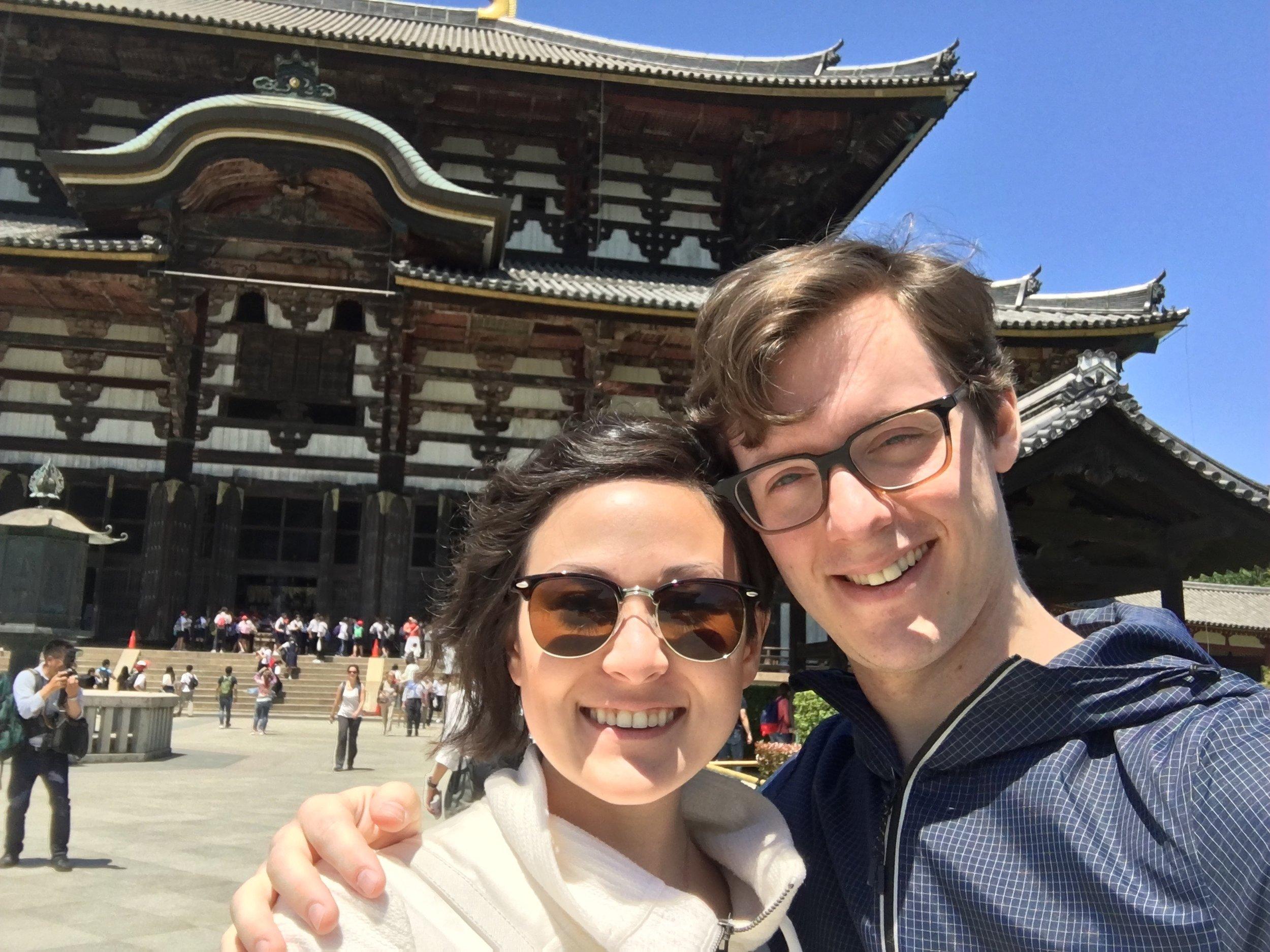 Michael & I outside of Todaiji Temple!