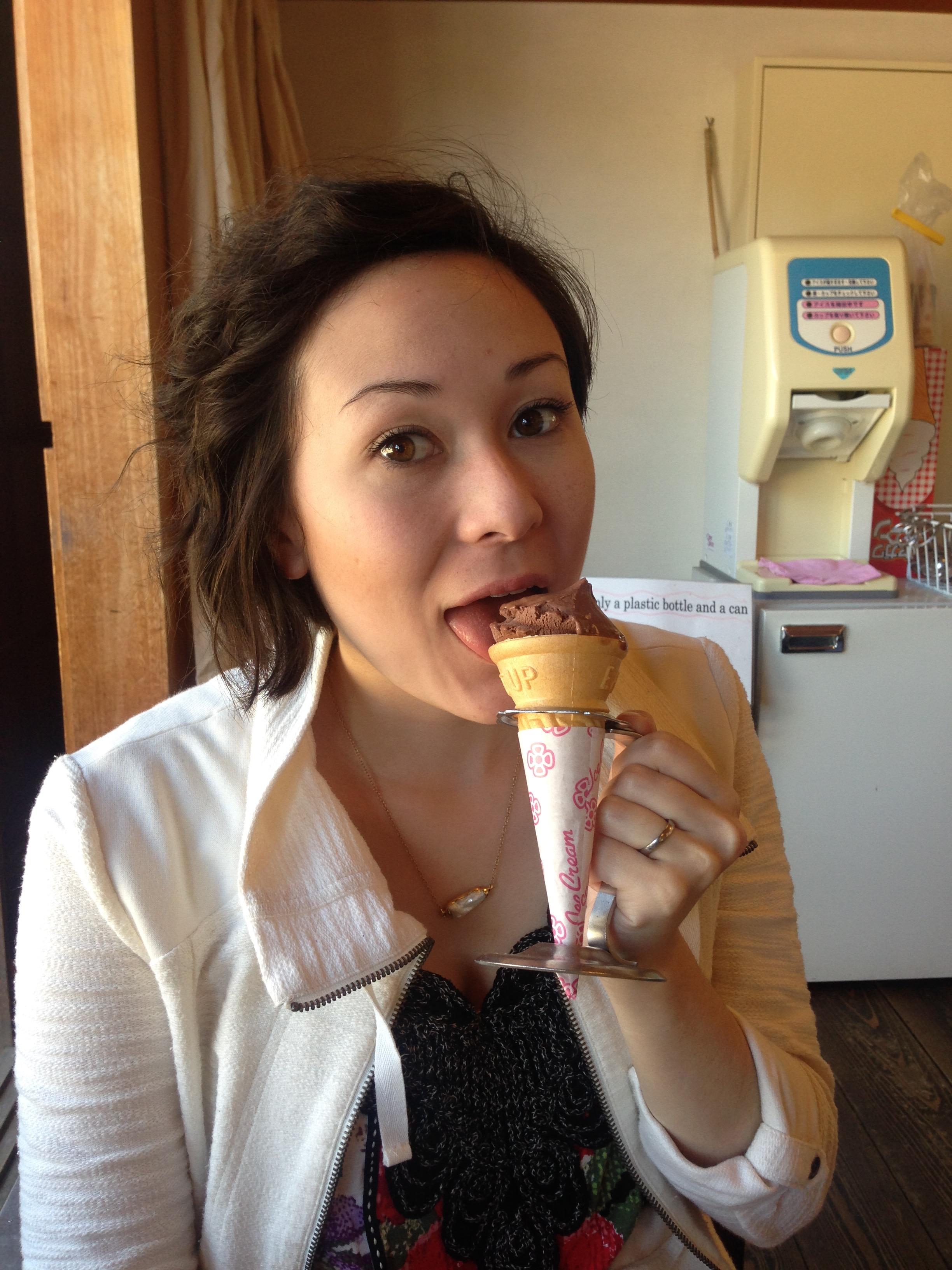 My ice cream cone! The Japanese love their soft serve!