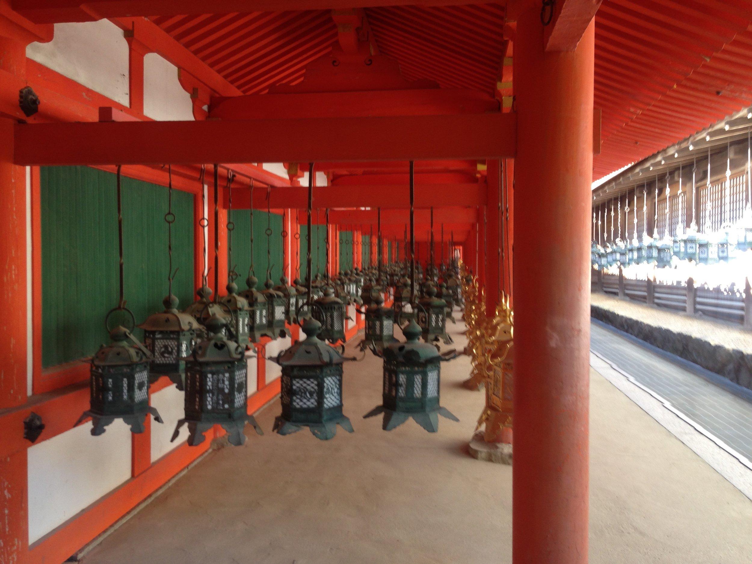 The lanterns hung so still! Beautiful shrine.