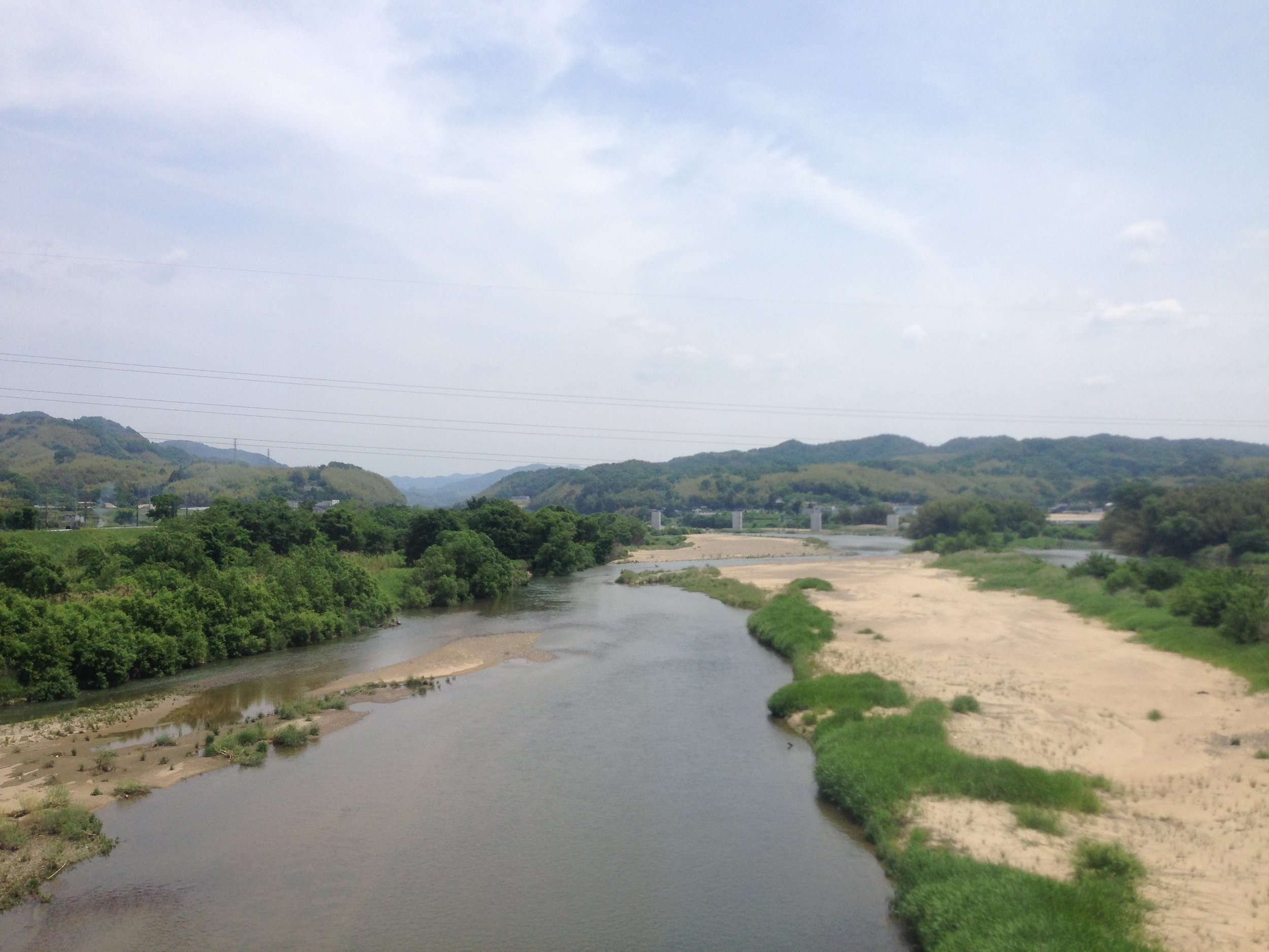 Somewhere in between Nara and Kyoto.