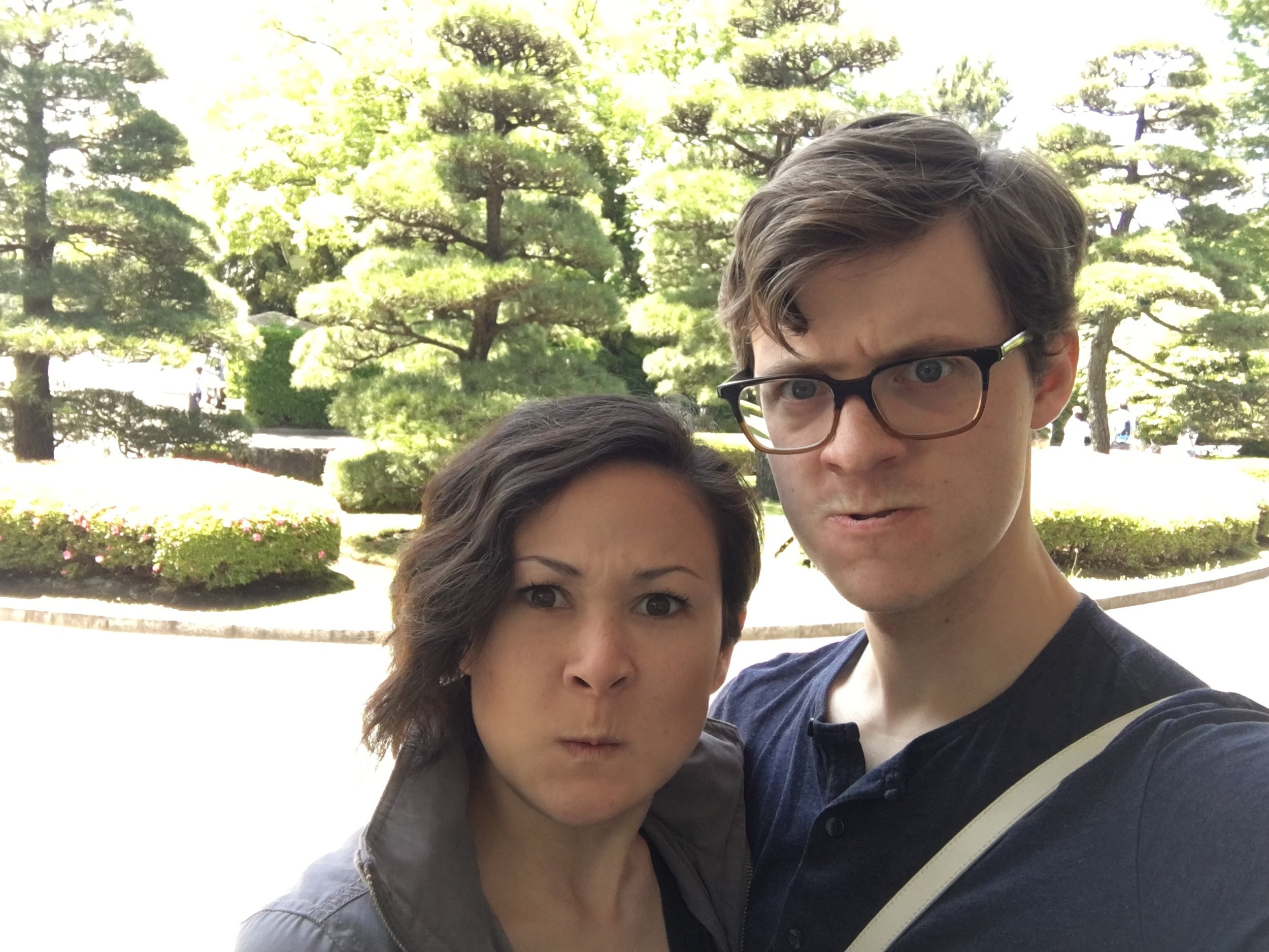 Makin' faces on the East Gardens. No reason.
