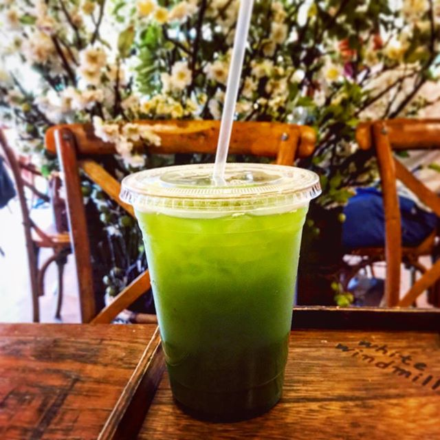 _ Introducing our 'W' Matcha Ice Tea 🍵 #greentea #matcha #icetea #wwbakery #whitewindmillbakeryandcafe