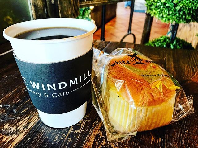 Coffee + pastry #saturdayafternoon  #atlantacoffeeshops  #wwbakery #whitewindmill #coffeestagram