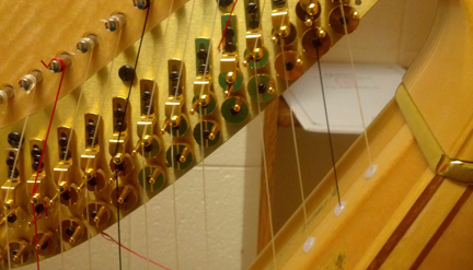 broken harp strings