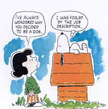 lucy and snoopy from peanuts