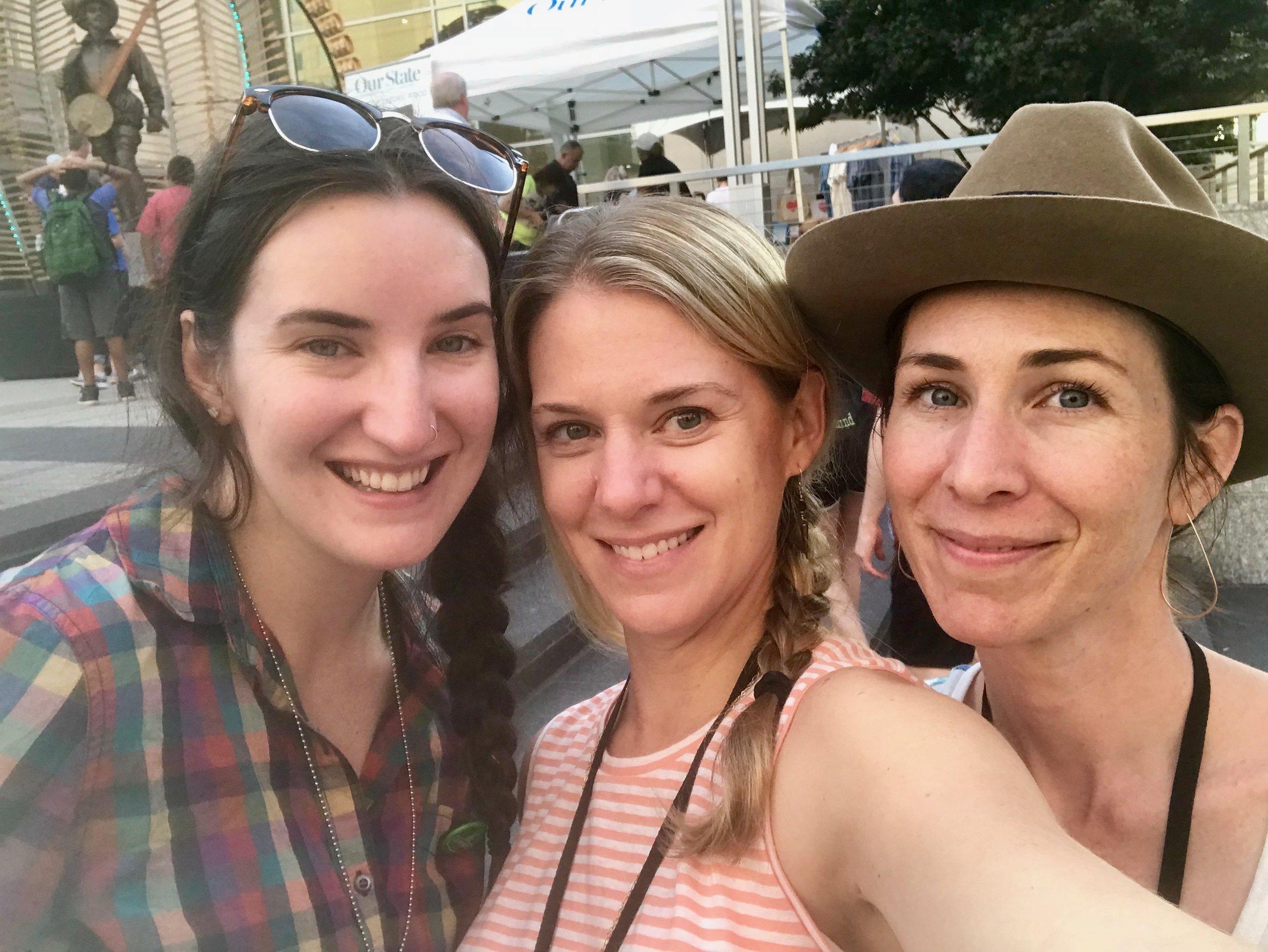 Kara, me and Gina, celebrating our successful week!