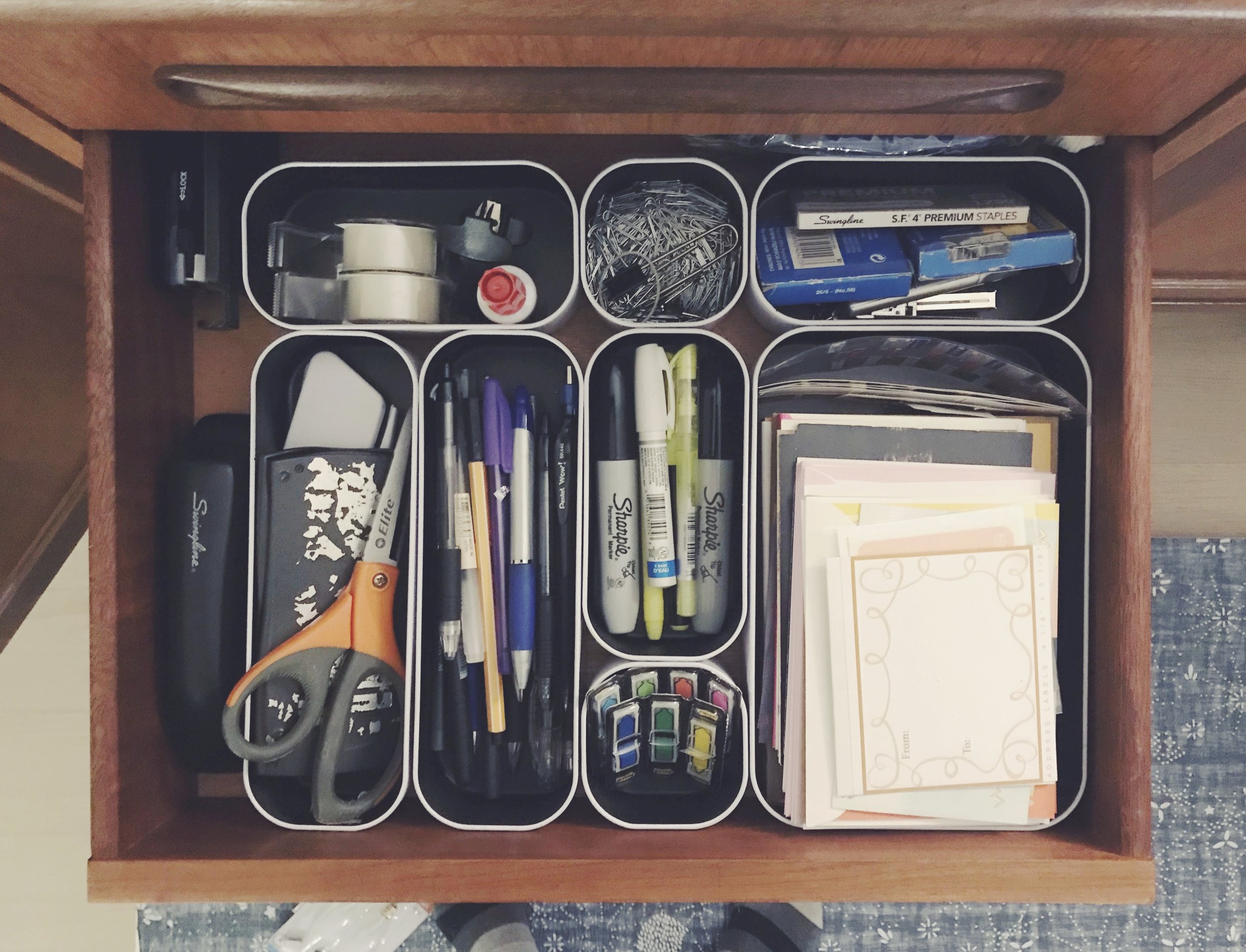 drawer organizing