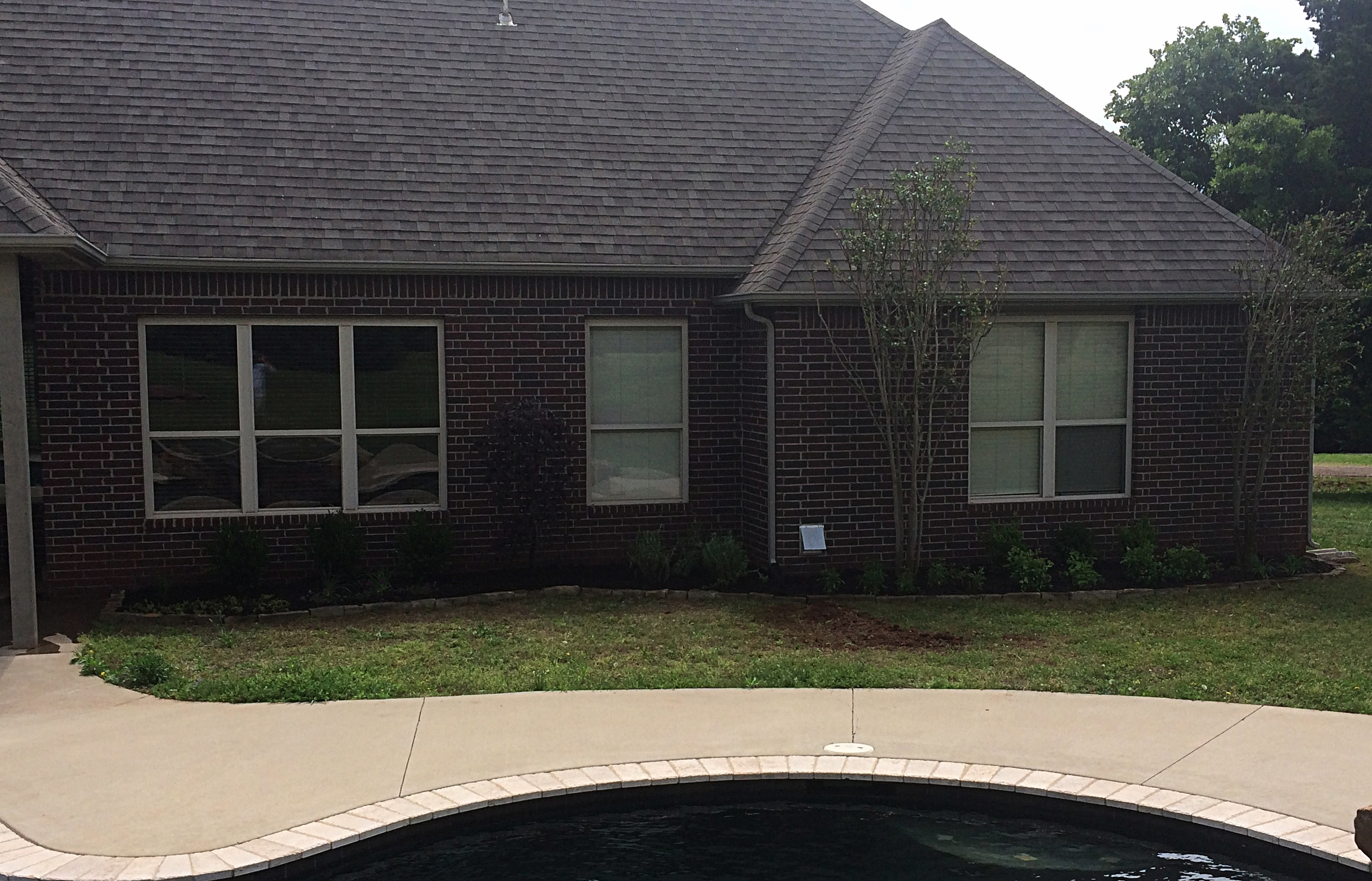 Flower bed addition in back in SW Stillwater