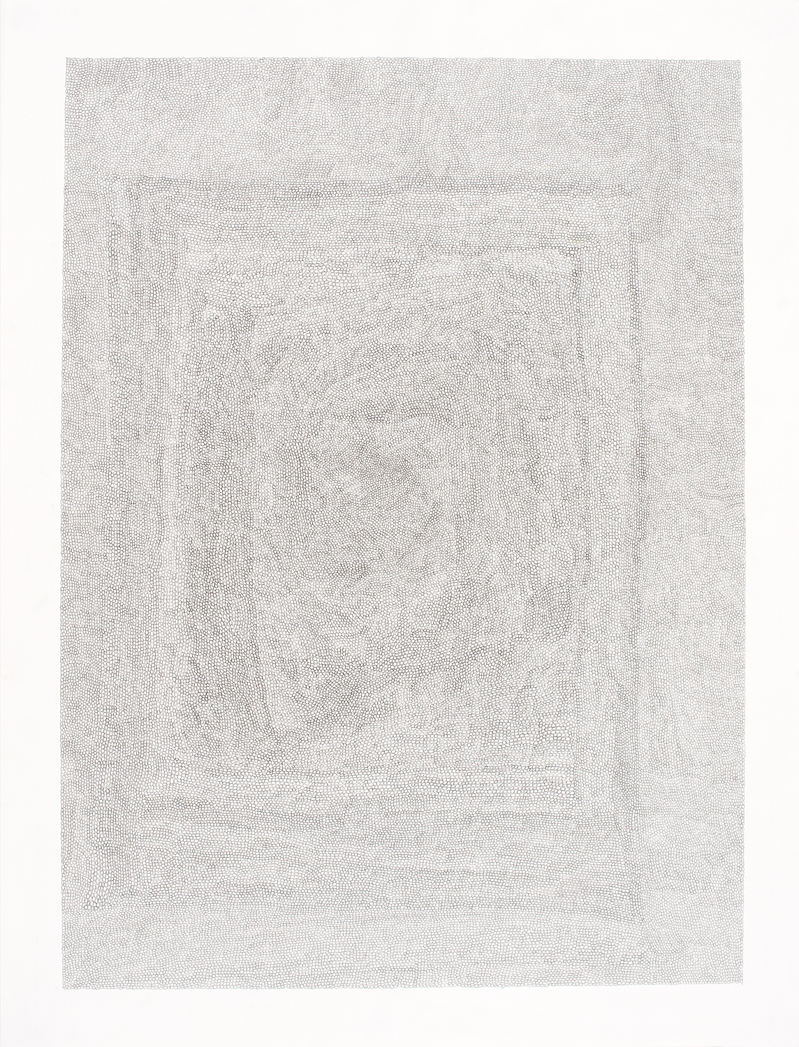 Circle Within Large Rectangle,2007 50 by 38 inches Graphite on paper