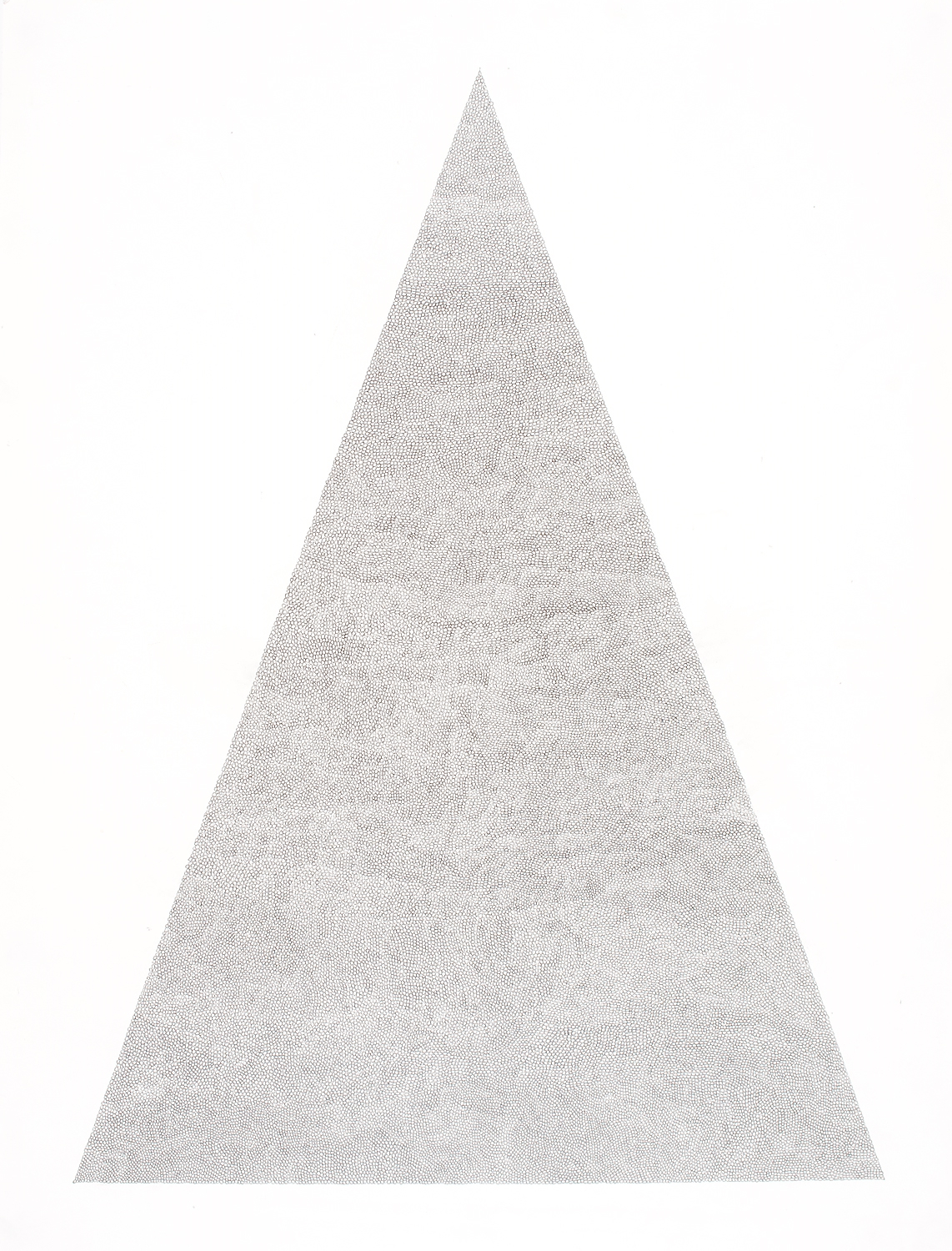 Circle Within Large Triangle,2007 50 by 38 inches Graphite on paper