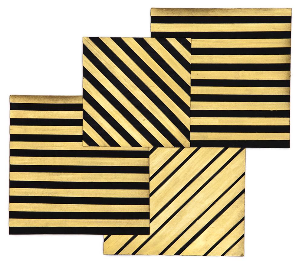 Gold Diagonals and Horizontal, 2015