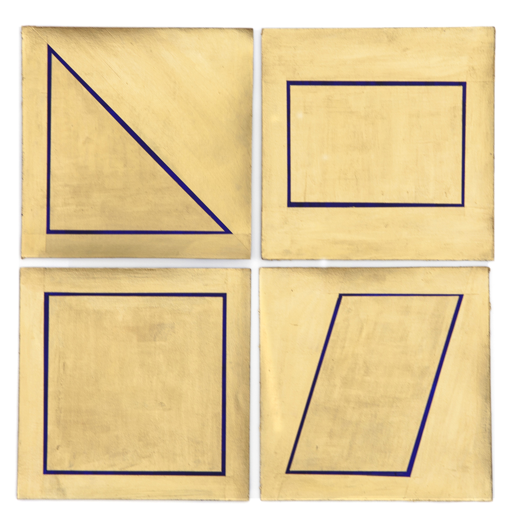 Gold Shapes 1 - 2 - 3 - 4, 2015