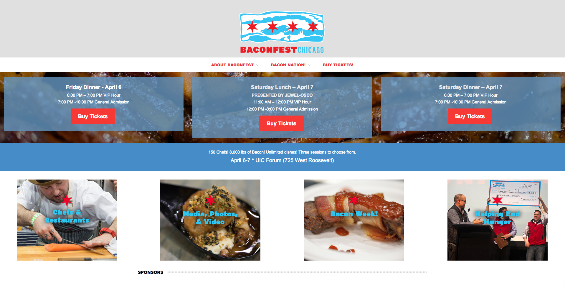 Website design - Baconfest Chicago -    Click here to view more