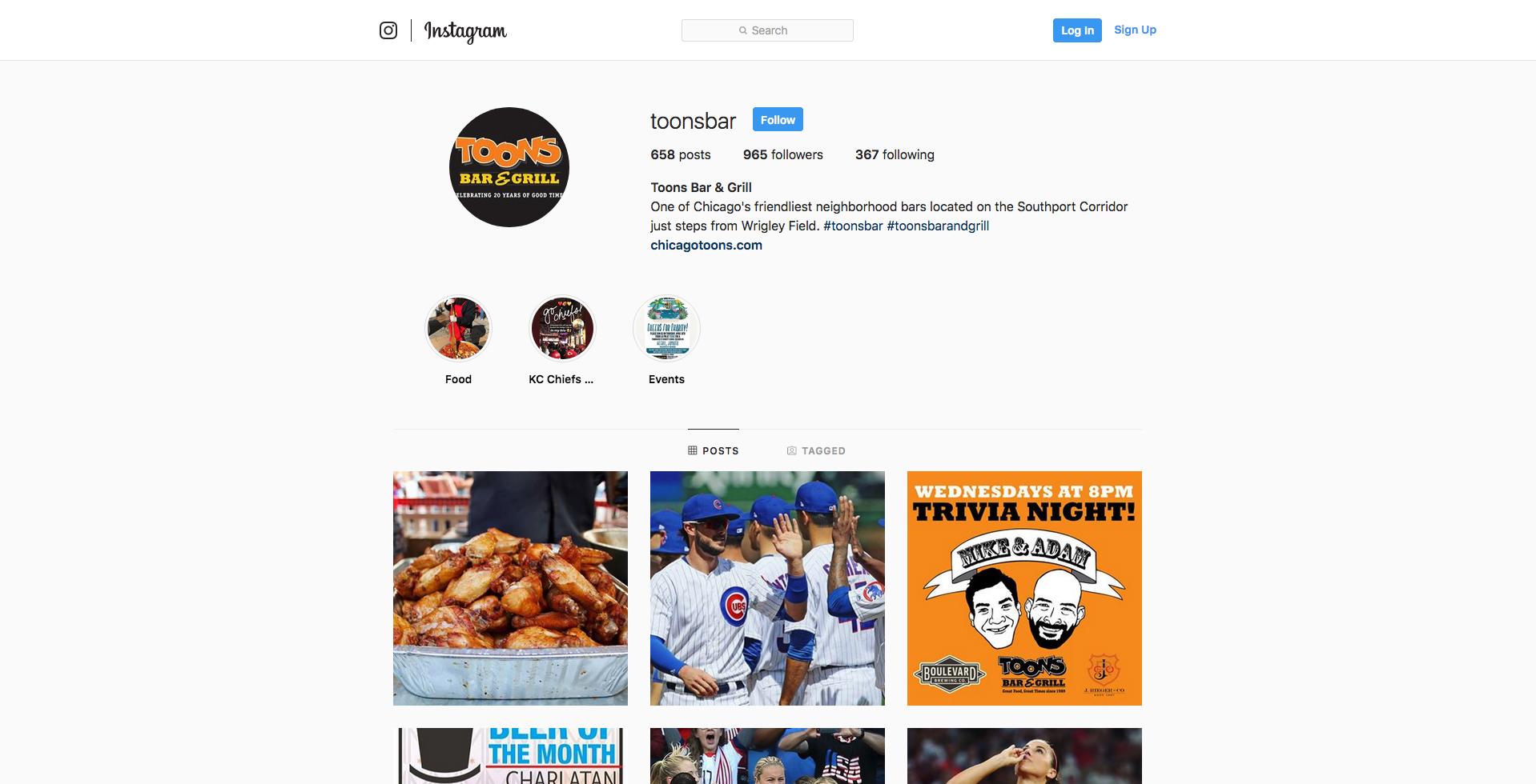 Toons Bar & Grill - Instagram