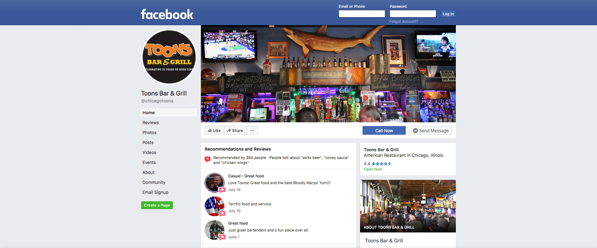 Toons Bar & Grill - Facebook