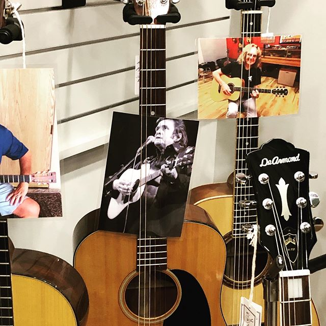 So, Johnny Cash's guitar, the '42 Martin for $65k, or the Gibson hand-carved by Orville Gibson himself ... so hard to choose! #decisionsdecisions #gruhnguitars #nashville