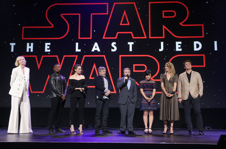 Star Wars The Last Jedi Celebrities at D23
