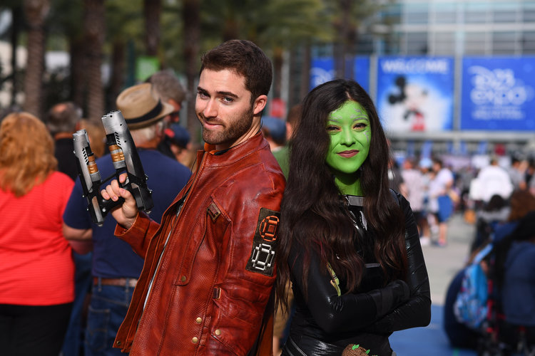 Two fans Cosplay at D23