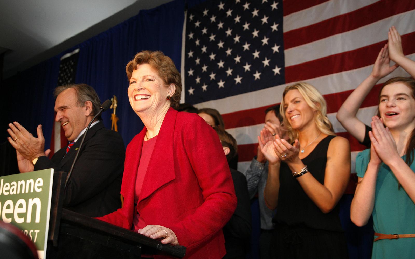 Sen. Jeanne Shaheen on election night, 2014