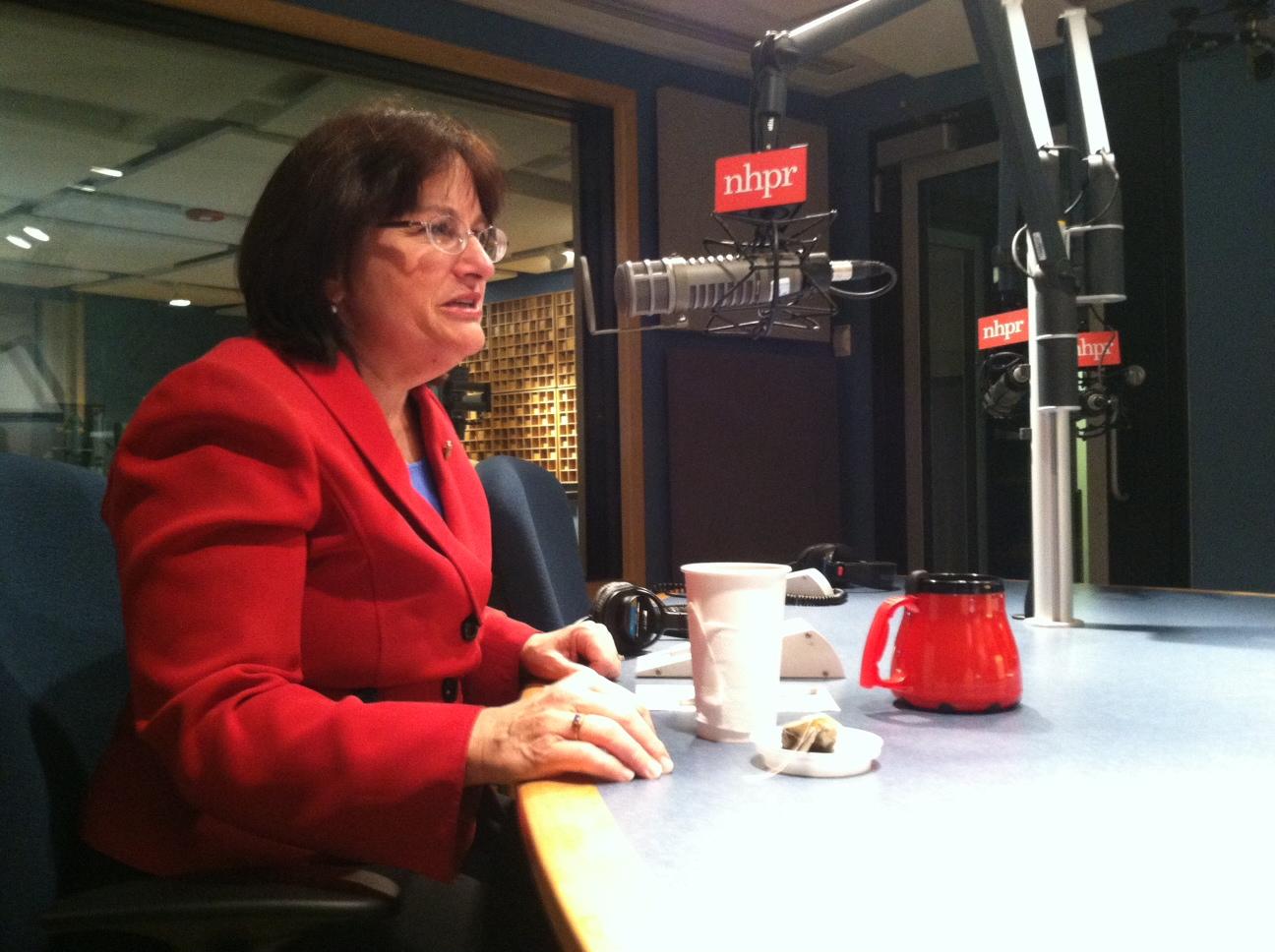 Congresswoman Annie Kuster in NHPR's studio, 2014
