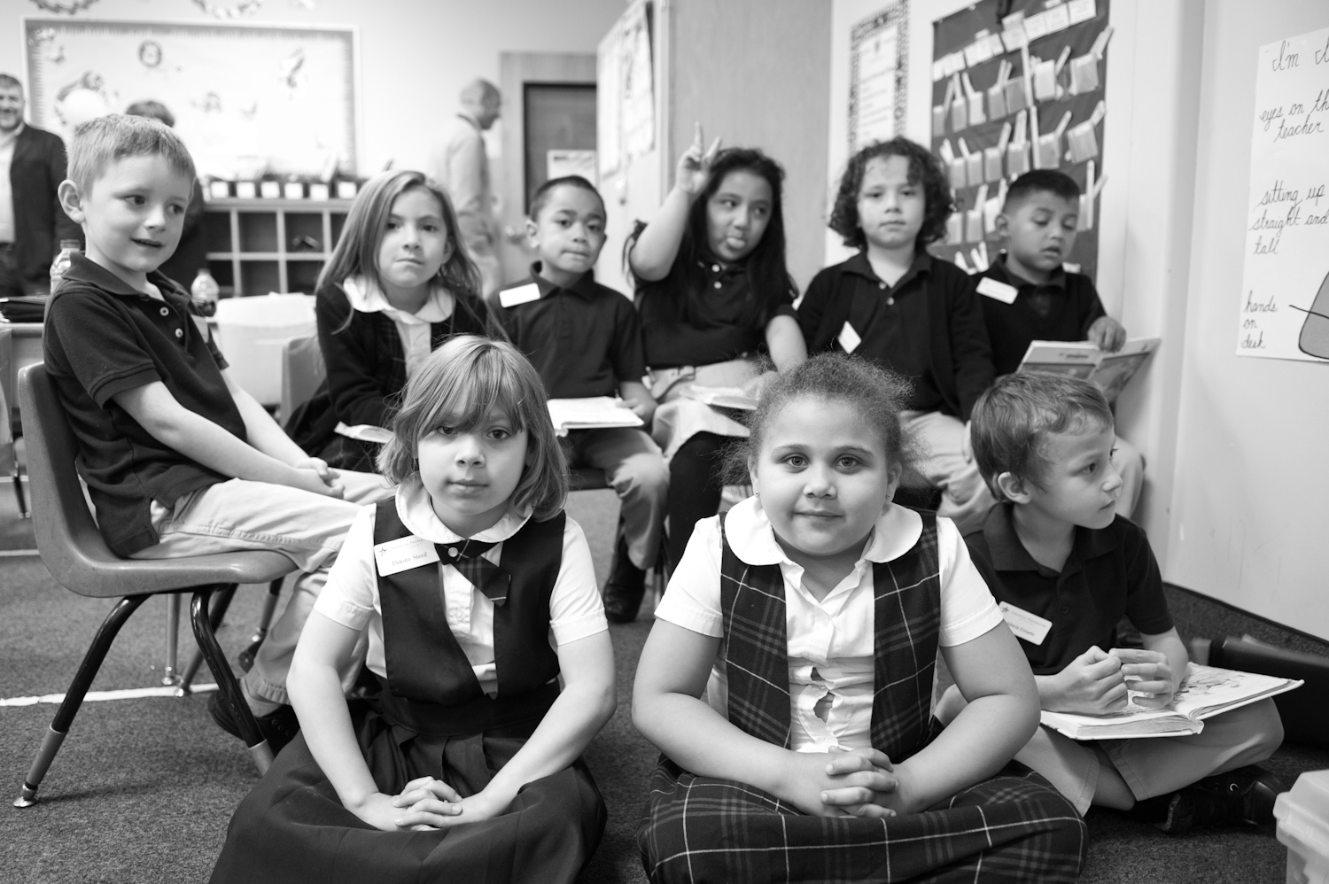 The American Preparatory Academy is a school for grades K-9.  A Kindergarten class is pictured above.