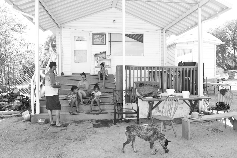 Pimentel family at their farm home.