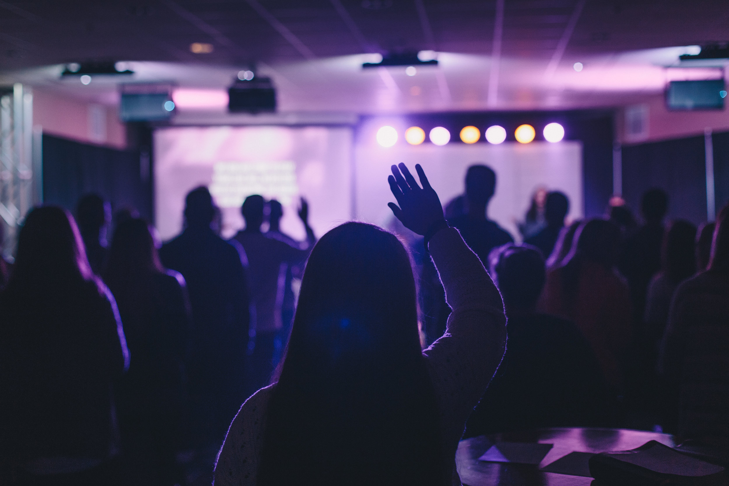 college student worshipping