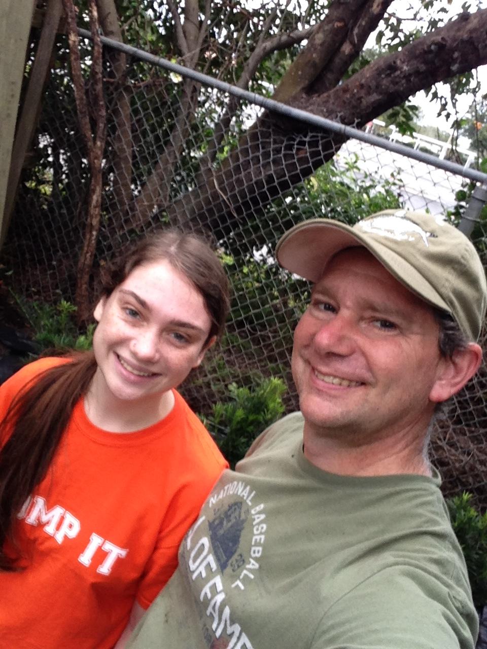 With fellow gardener, Melanie Blanton.