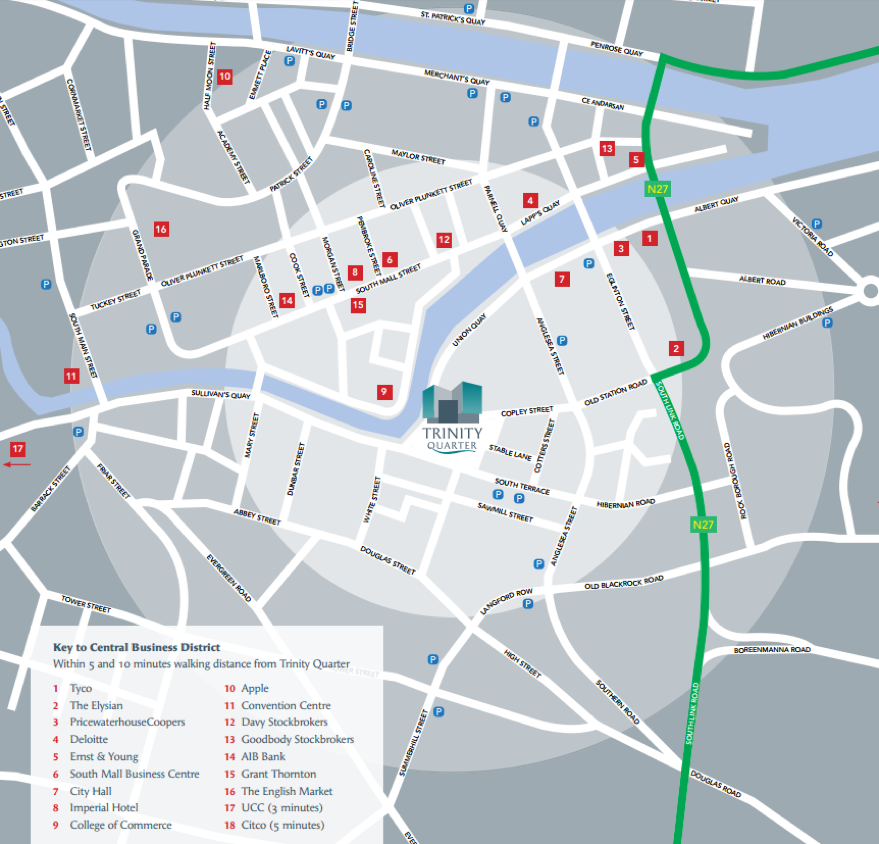 Map A: Simple Map of Local Activities for Trinity Quarter