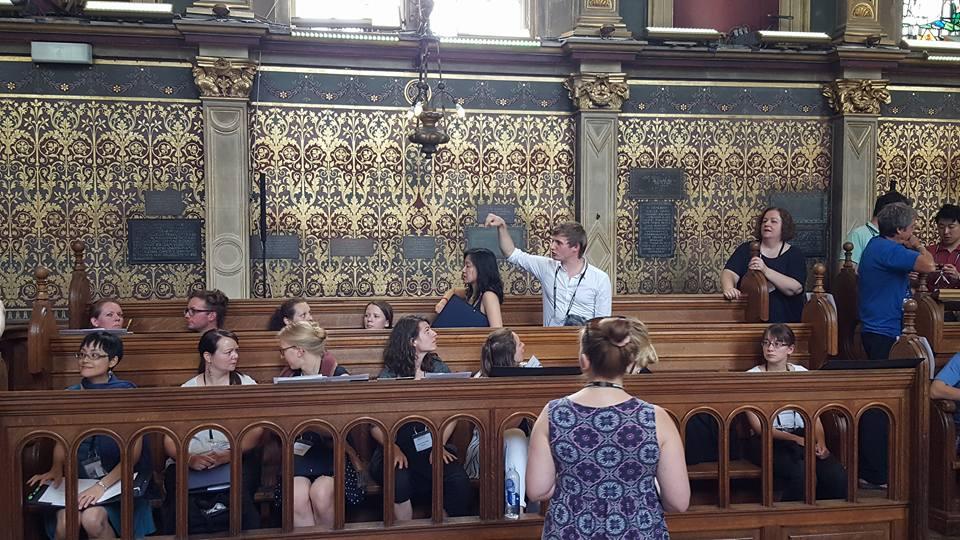 Choir rehearsal with Christopher Robinson - Photo by Bob Mccranie