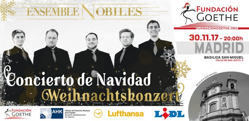 Weihnachtskonzert 2017: Ensemble Nobiles in Madrid