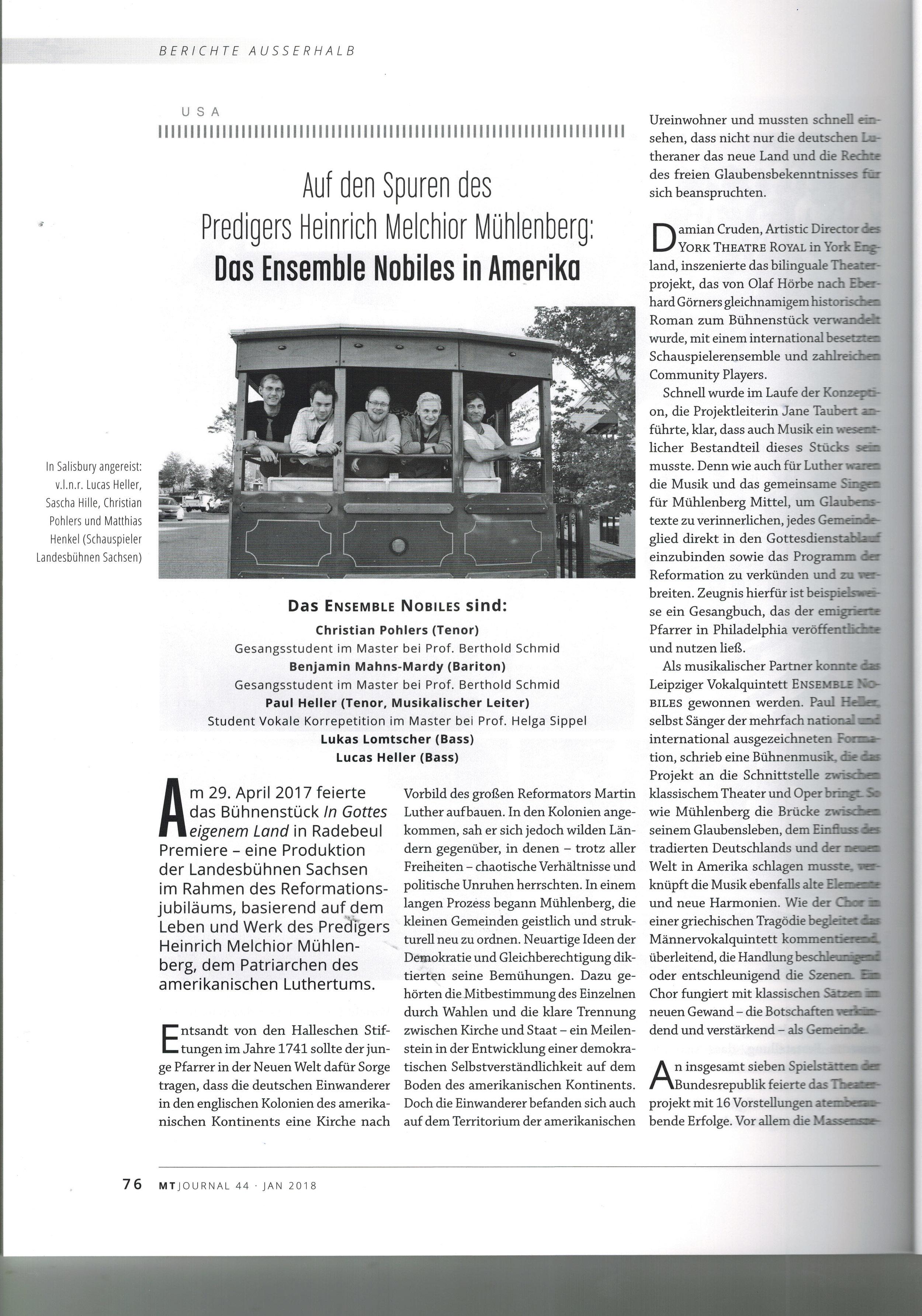 MT Journal  44 Januar - Wintersemester 2018 - S. 76