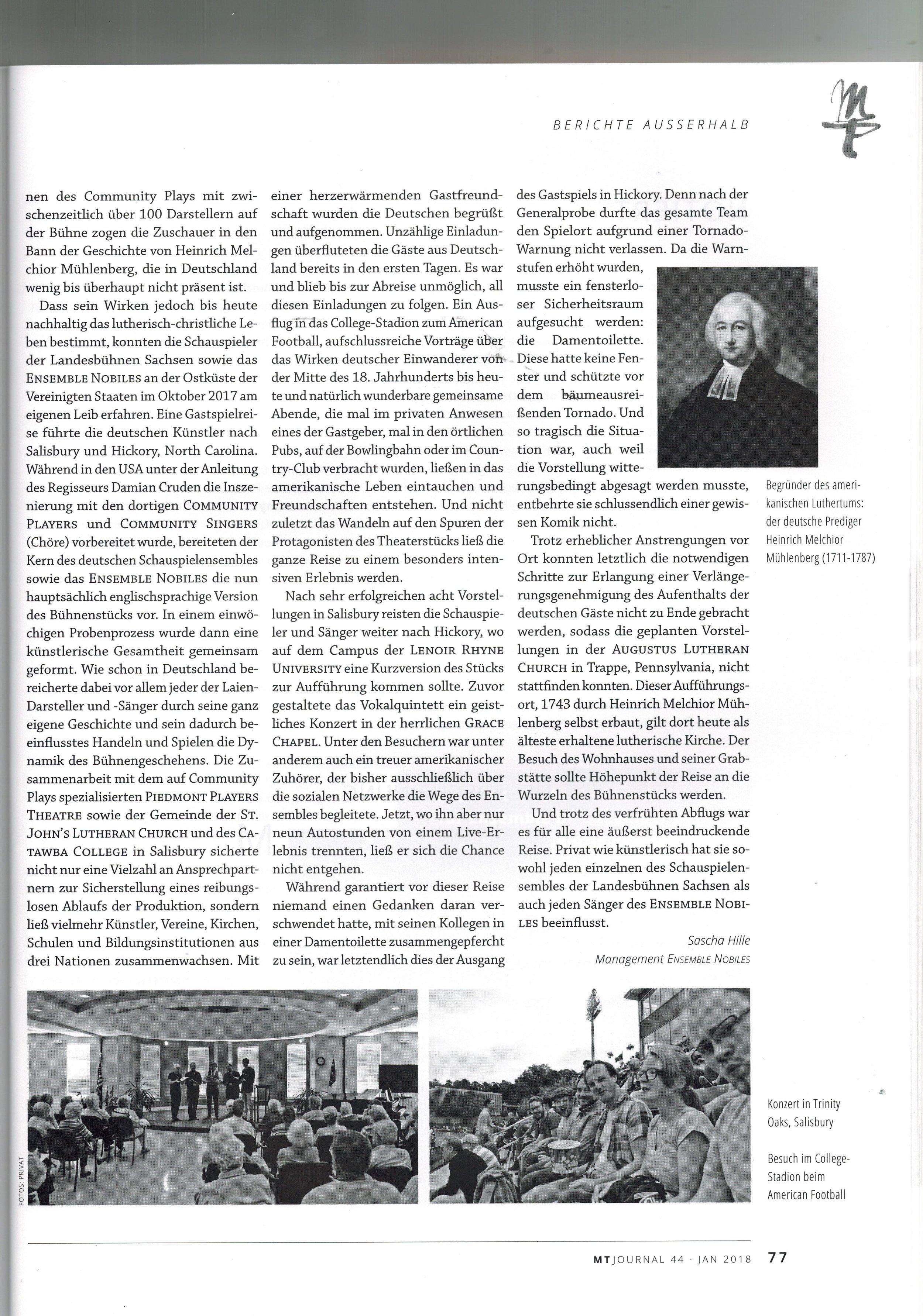 MT Journal  44 Januar - Wintersemester 2018 - S. 77
