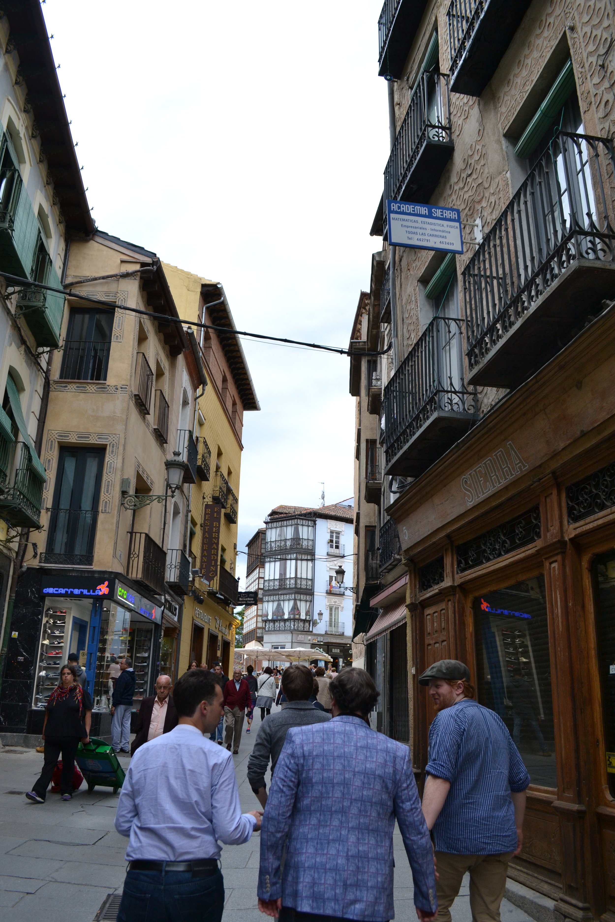 Auf den Straßen Segovias   Sightseeing Segovia