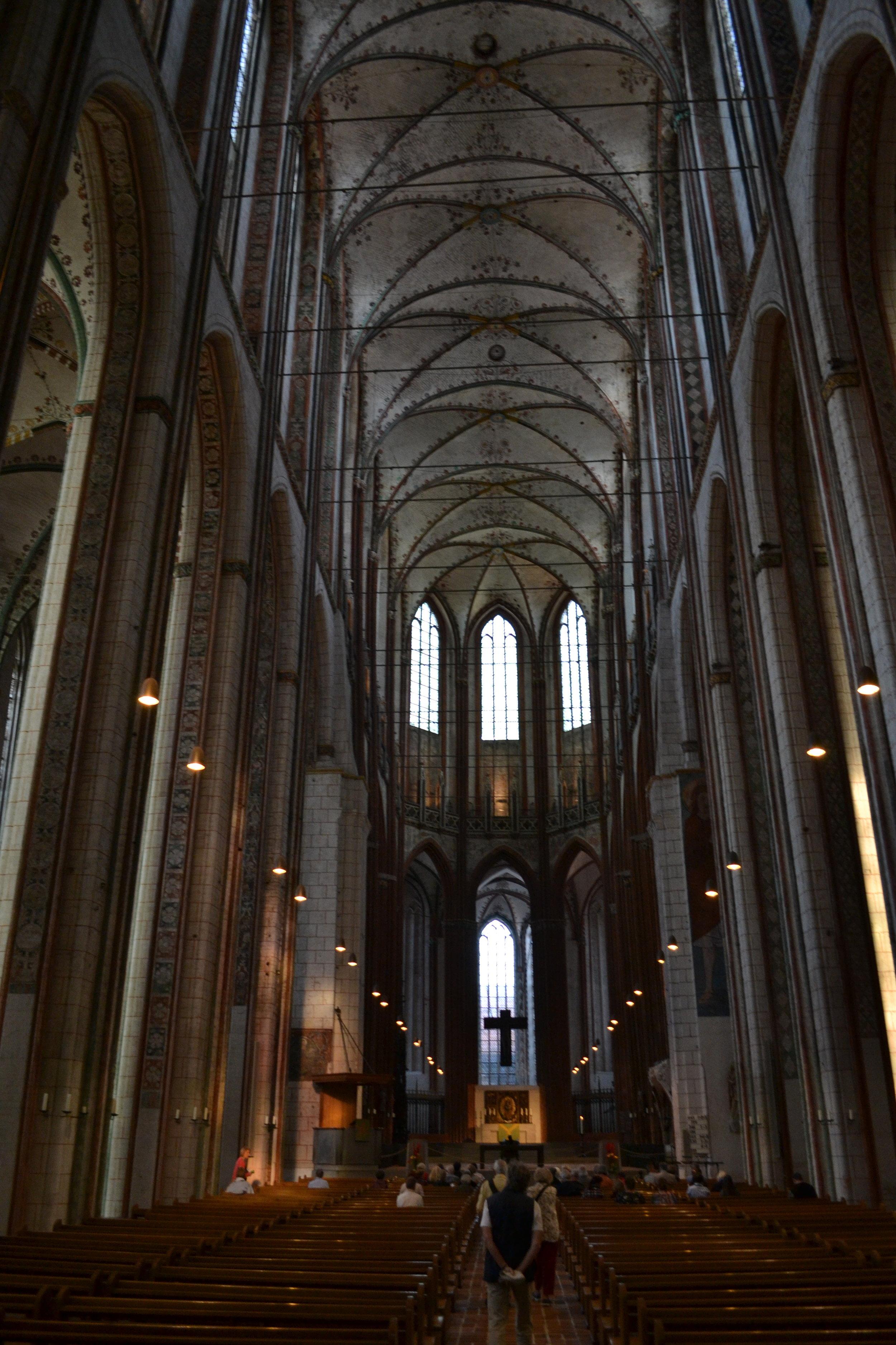 St. Marien Lübeck: Mal von hinten…