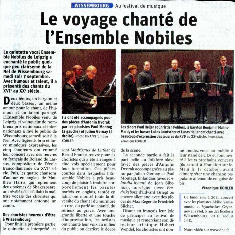 Véronique Kohler,  www.dna.fr  >>>  KLICK HERE for the video SuMMARY
