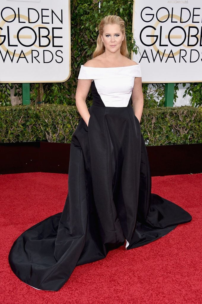 amy schumer in prabal gurung.  what woman doens't love pockets in a dress?!!