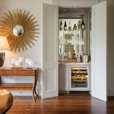 if you can fit a wine fridge, even better! via  bob vila