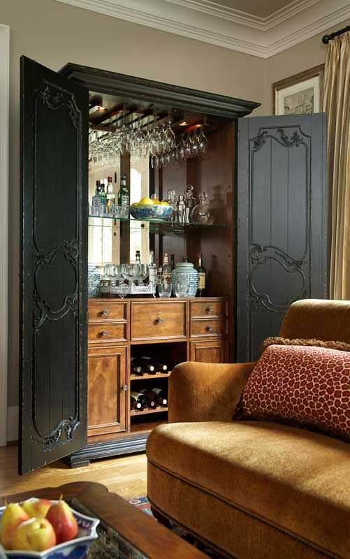 have an old armoire?  turn it into a bar.  talk about a conversation piece