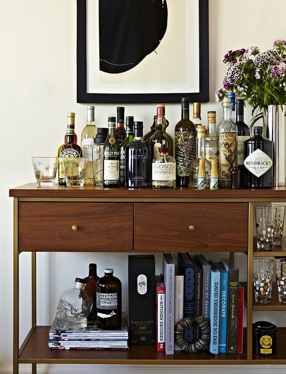 every bachelor needs a bar in their pad, via  Refinery29