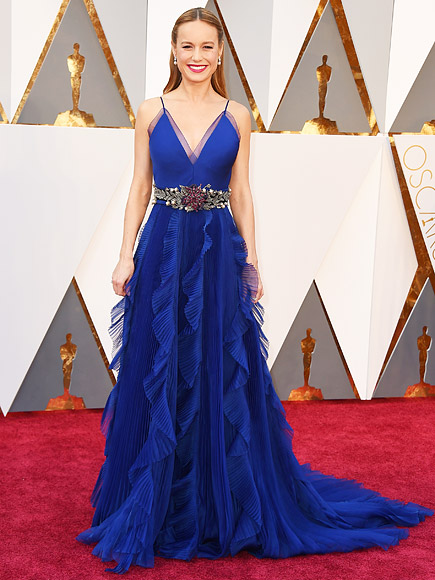 New oscar winner, Brie Larson for her role in Room (can't wait to see it) wearing gucci