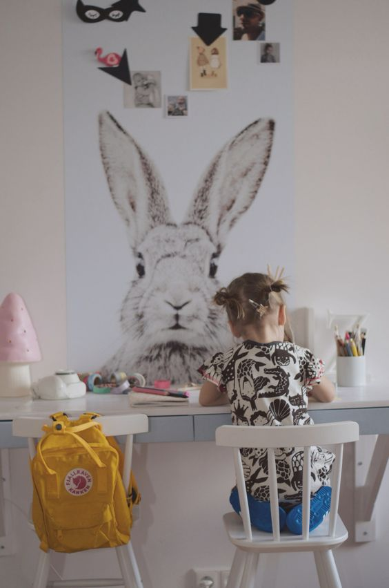 a magnetic bunny board via  groovy magnets