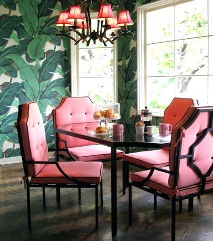 nikki Hilton's hollywood regency style dining room