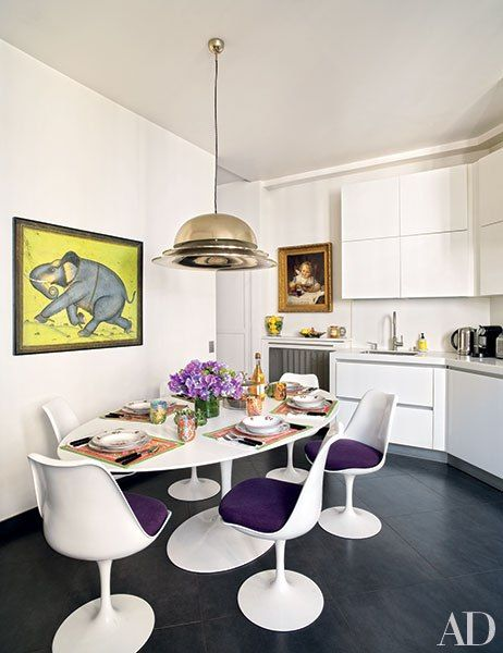 A Parisian apartment via  architectural digest
