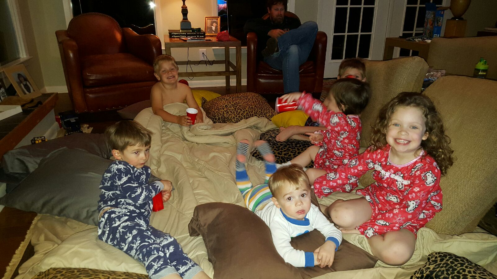 Noah, sawyer, Margaret Alice, Asher, Whitt, and Miriam On friday's Pizza and a movie
